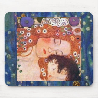 Mother and Child by Klimt Mouse Pad