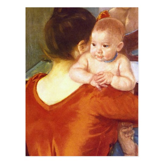 Mother and Child by Pierre Renoir Postcard