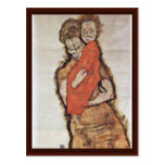 Mother And Child By Schiele Egon