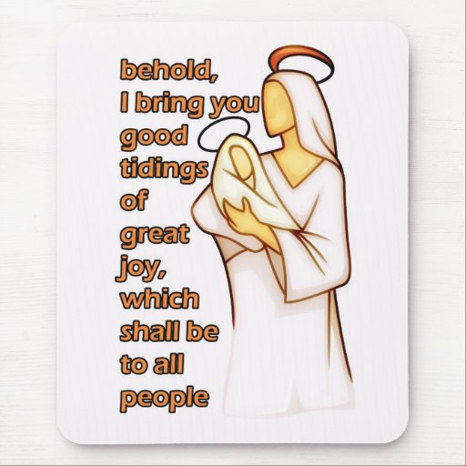 Mother and Child Christmas Design Mouse Pad