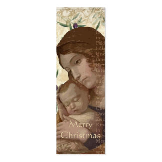 Mother and Child Collage Christmas Gift Tags Business Card