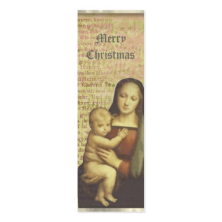 Mother and Child Collage Christmas Gift Tags Pack Of Skinny Business Cards