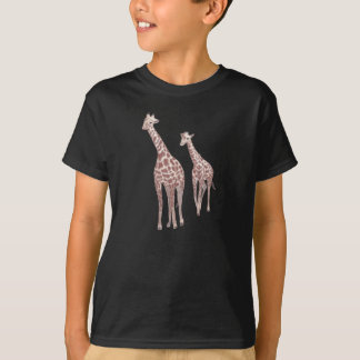 Mother and child giraffes drawing tshirts