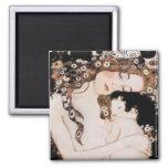 Mother and Child Gustave Klimt Square Magnet