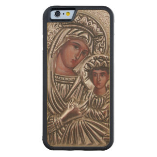 Mother and Child Icon, Madonna and Jesus in silver Maple iPhone 6 Bumper Case