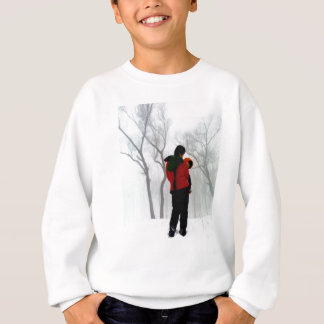 Mother and child in the snow sweatshirt