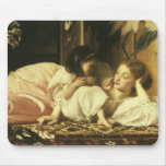 Mother and Child, Leighton, Vintage Victorian Art Mouse Mat