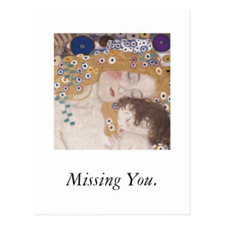 Mother and Child Missing You Post Cards