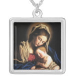 Mother and child necklaces