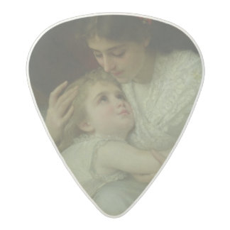 Mother and Child (oil on canvas) Acetal Guitar Pick