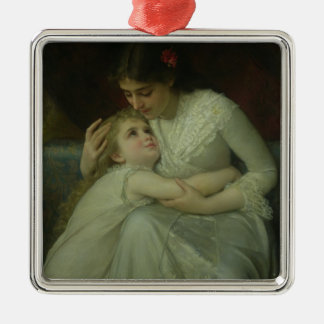 Mother and Child (oil on canvas) Christmas Ornament