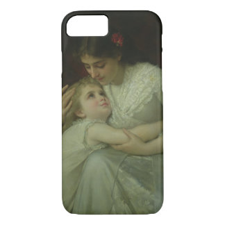 Mother and Child (oil on canvas) iPhone 8/7 Case