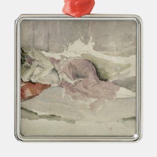 Mother and Child on a Couch Christmas Ornament