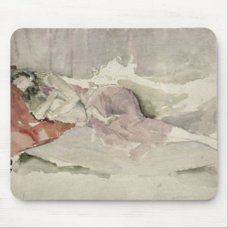 Mother and Child on a Couch Mouse Mat
