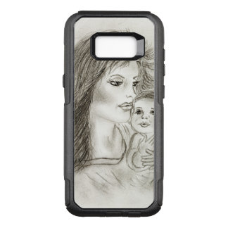 Mother and child OtterBox commuter samsung galaxy s8+ case