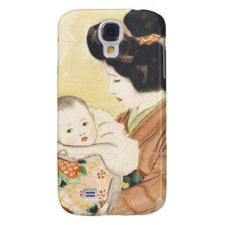 Mother and Child Shinsui Ito japanese portrait art Galaxy S4 Case
