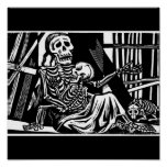 """""""Mother and Child Skeletons"""" by Leopoldo Mendez. Poster"""