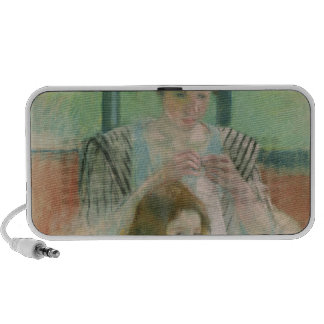 Mother and child laptop speaker