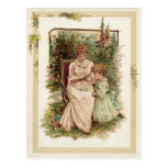 Mother and Child Vintage Reproduction Postcard