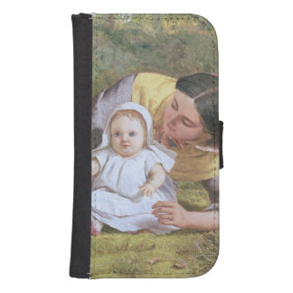 Mother and Child with a poppy Samsung S4 Wallet Case