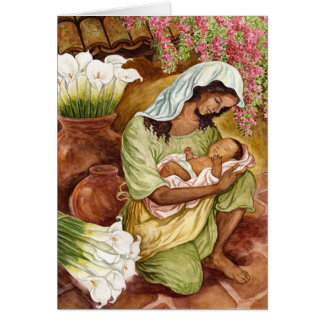 Mother And Child With Calla Lilies Greeting Card
