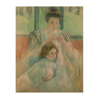 Mother and child wood wall decor