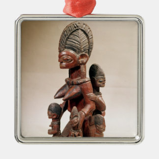Mother and children christmas ornament