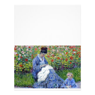 Mother and Daughter in Garden 21.5 Cm X 28 Cm Flyer