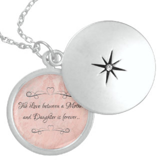 Mother and Daughter Locket Necklace