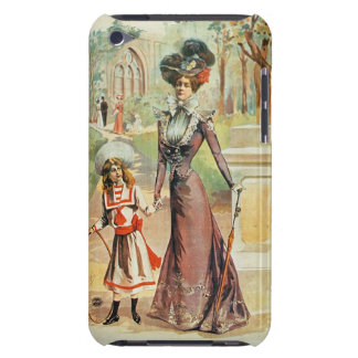 Mother and daughter on a walk (colour litho) barely there iPod covers