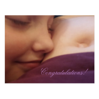 Mother and daughter, pregnancy card