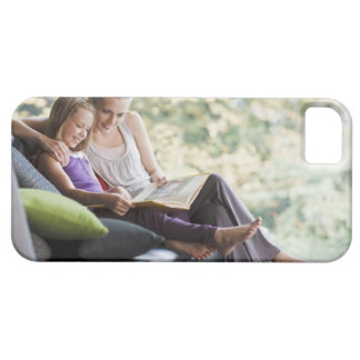 Mother and daughter reading storybook iPhone 5 cover