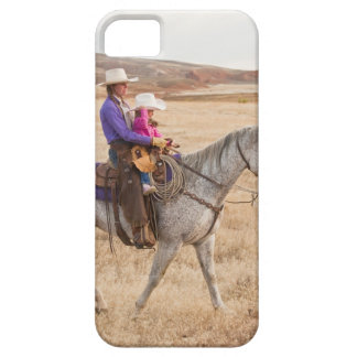 Mother and daughter riding horse barely there iPhone 5 case