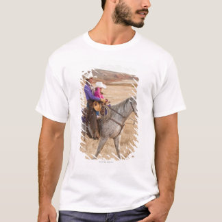 Mother and daughter riding horse T-Shirt