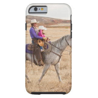 Mother and daughter riding horse tough iPhone 6 case