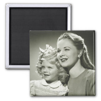 Mother and Daughter Square Magnet