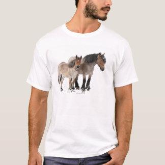 Mother and foal smiling, Belgian horse, Belgian T-Shirt