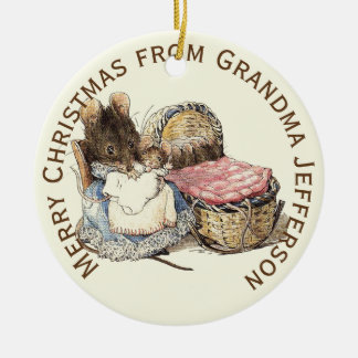 Mother and Newborn Child Personalized Christmas Ornament