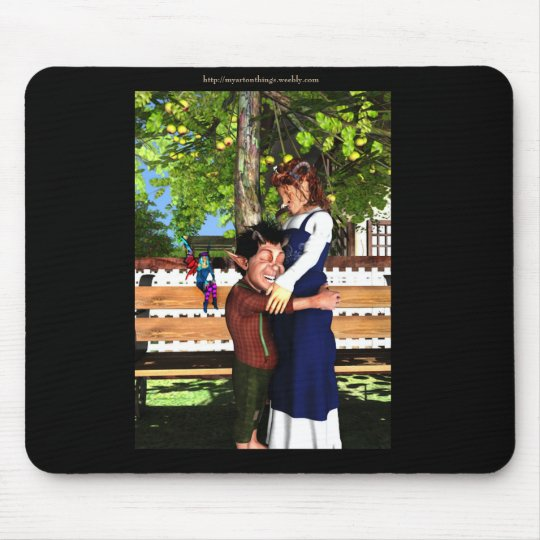 Mother and Son Mouse Mat