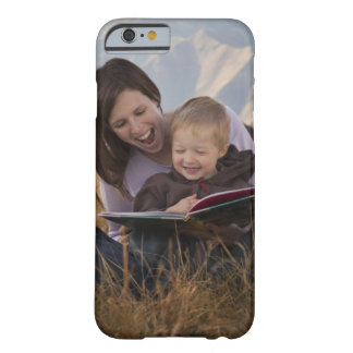Mother and son reading outdoors barely there iPhone 6 case