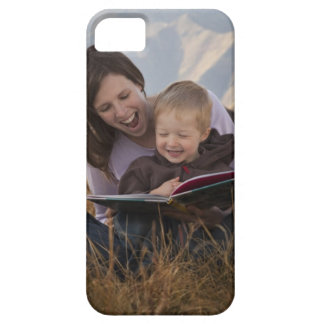 Mother and son reading outdoors iPhone 5 case