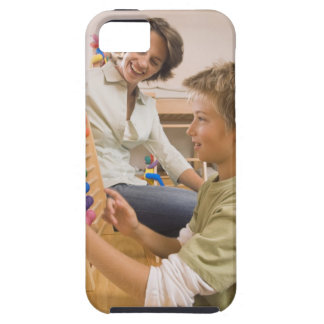 Mother and son using abacus case for the iPhone 5