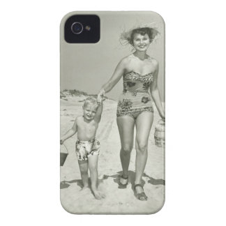 Mother and Son Walking Case-Mate iPhone 4 Case