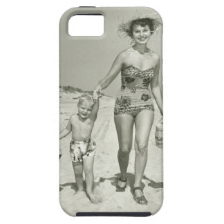 Mother and Son Walking iPhone 5 Cases