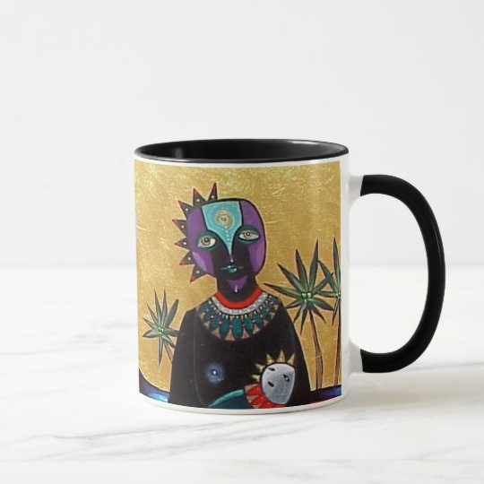 Mother and Sun by Gregory Gallo Mug