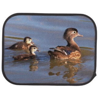 Mother and Wood Ducklings Car Mat