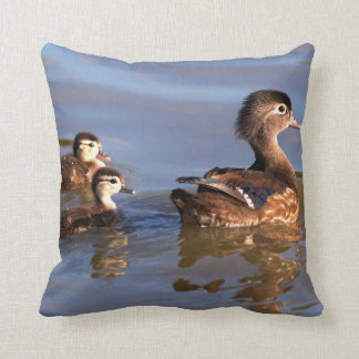 Mother and Wood Ducklings Cushion