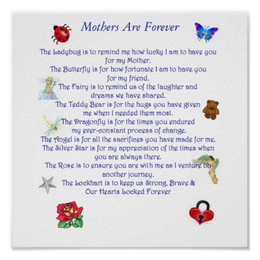 Mother Are Forever poem Poster
