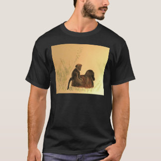 Mother & Baby Baboons - Wildlife Monkeys Primates T-Shirt