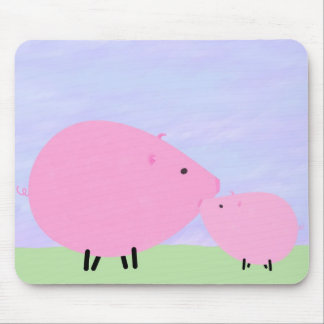 Mother & Baby Pig Mouse Pad